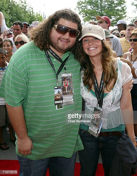 Actor Jorge Garcia and Malia Hansen attend day three of the Indy 500 All Star Weekend on May 28 2006 in Indianapolis Indiana