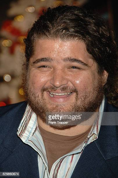 Actor Jorge Garcia arrives at the premiere of Deck The Halls held at Grauman's Chinese Theatre in Hollywood