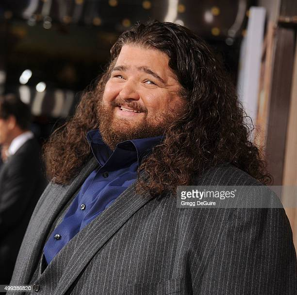 Actor Jorge Garcia arrives at the premiere of Netflix's The Ridiculous 6 at AMC Universal City Walk on November 30 2015 in Universal City California