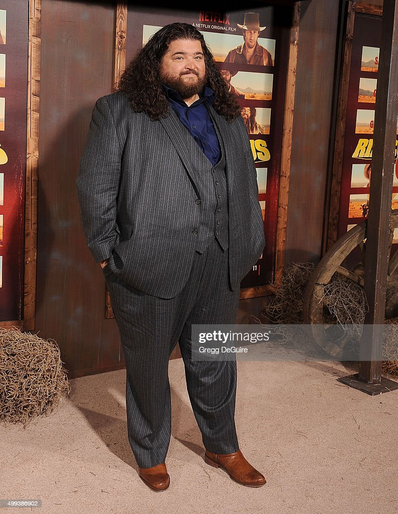 Actor Jorge Garcia arrives at the premiere of Netflix's 'The Ridiculous 6' at AMC Universal City Walk on November 30, 2015 in Universal City, California.