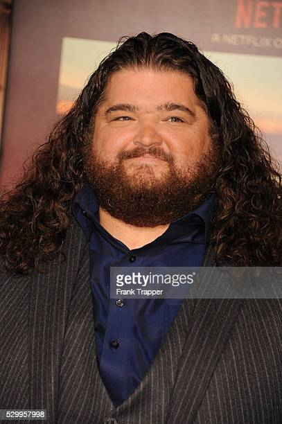Actor Jorge Garcia arrives at the premiere of The Ridiculous 6 held at AMC Universal City Walk Stadium 18
