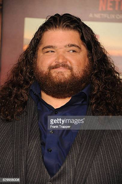 "Actor Jorge Garcia arrives at the premiere of ""The Ridiculous 6"" held at AMC Universal City Walk Stadium 18."