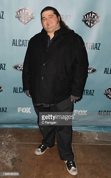 "Actor Jorge Garcia arrives at the premiere party for FOX's new series ""Alcatraz"" at Alcatraz Island on January 11, 2012 in San Francisco, California."