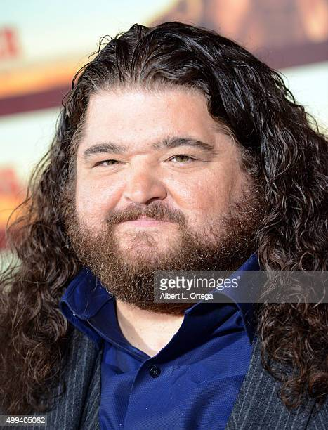 "Actor Jorge Garcia arrives for the Premiere Of Netflix's ""The Ridiculous 6"" held at AMC Universal City Walk on November 30, 2015 in Universal City,..."
