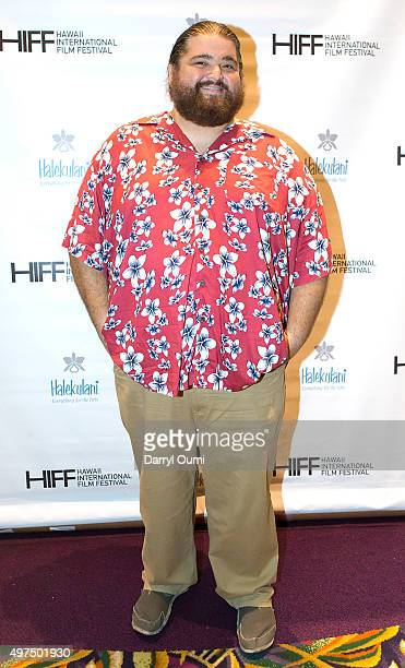 Actor Jorge Garcia arrives for the world premiere of 'Pali Road' at the 2015 Hawaii International Film Festival on November 16 2015 in Honolulu Hawaii