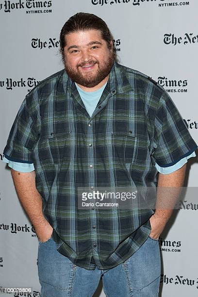 Actor Jorge Garcia attends The New York Times' TimesTalk with the creators of ABC's 'Lost' at TheTimesCenter on May 20 2010 in New York City