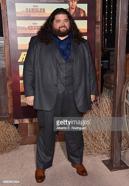 Actor Jorge Garcia attends the premiere of Netflix's The Ridiculous 6 at AMC Universal City Walk on November 30 2015 in Universal City California
