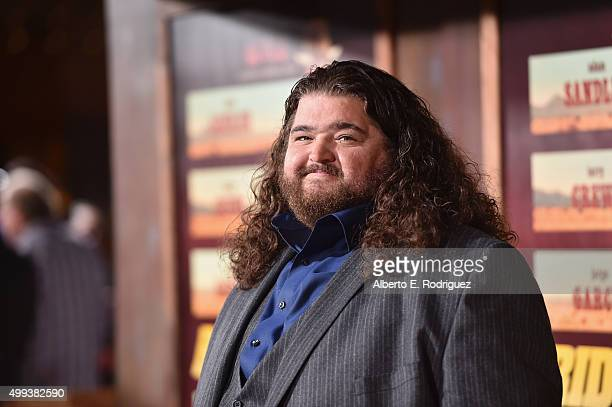 "Actor Jorge Garcia attends the premiere of Netflix's ""The Ridiculous 6"" at AMC Universal City Walk on November 30, 2015 in Universal City, California."