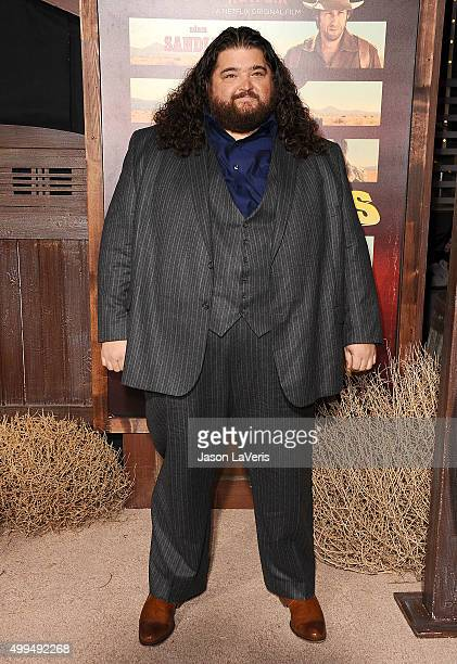 "Actor Jorge Garcia attends the premiere of ""The Ridiculous 6"" at AMC Universal City Walk on November 30, 2015 in Universal City, California."