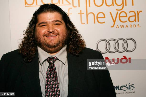Actor Jorge Garcia backstage at the 7th annual Hollywood Life Breakthrough of the Year Awards at the Music Box at the Fonda on December 9, 2007 in...