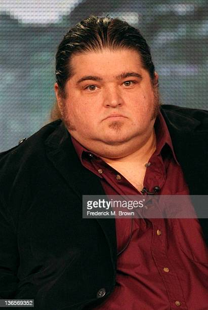 Actor Jorge Garcia speaks onstage during the 'Alcatraz' panel during the FOX Broadcasting Company portion of the 2012 Winter TCA Tour at The Langham...