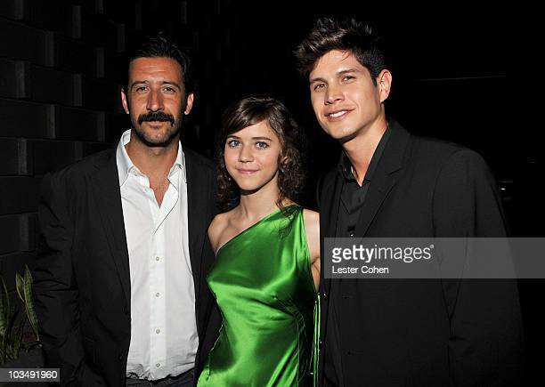 Actor José María Yazpik Tessa Ia and actor JD Pardo attend the after party for the premiere of The Burning Plain held at the Thompson Hotel on...