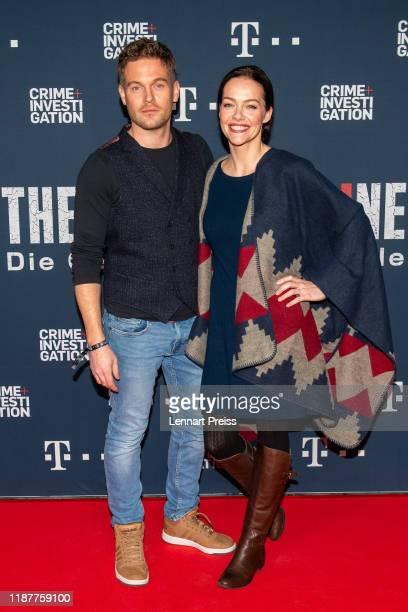Actor Joscha Kiefer with his wife Kristina Doerfer attend the world premiere of the new documentary The Invisible Line Die Geschichte der Welle by...