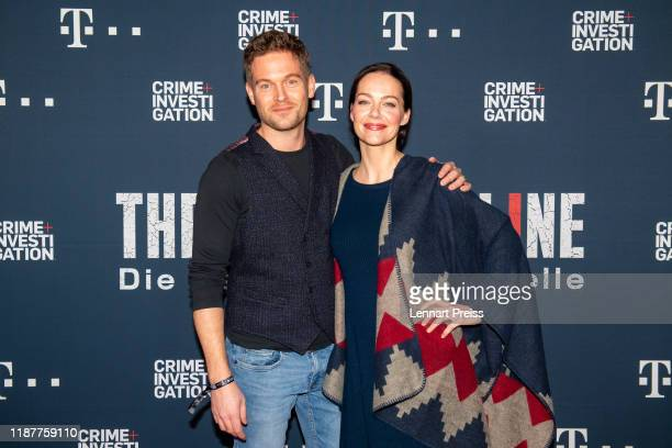 "Actor Joscha Kiefer with his wife Kristina Doerfer attend the world premiere of the new documentary ""The Invisible Line - Die Geschichte der Welle""..."