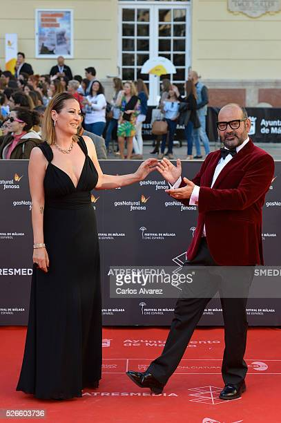 Actor Jose Corbacho attends Nuestros Amantes premiere at the Cervantes Teather during the 19th Malaga Film Festival on April 30 2016 in Malaga Spain