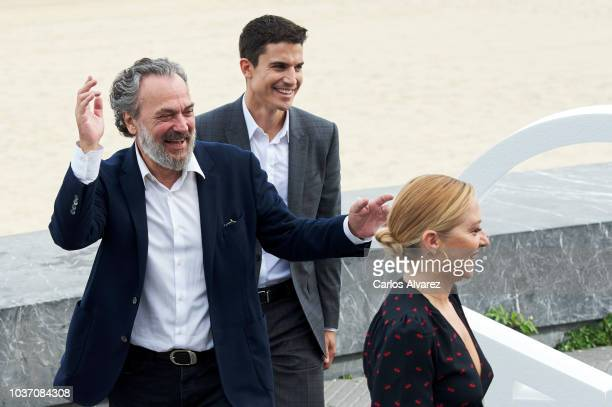 Actor Jose Coronado actor Alex Gonzalez and actress Pilar Castro attend 'Vivir Sin Permiso' photocall during the 66th San Sebastian Film Festival on...