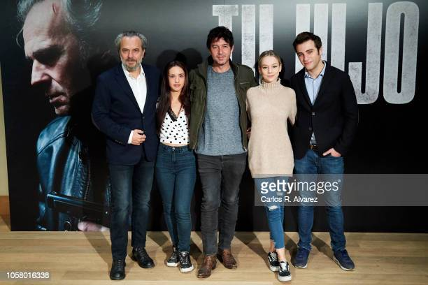 Actor Jose Coronado actress Asia Ortega director Miguel Angel Vivas actress Ester Exposito and actor Pol Monen attend 'Tu Hijo' photocall at Urso...