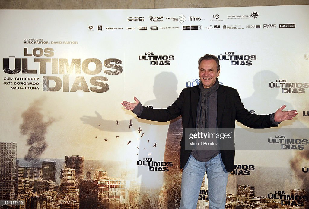 Actor Jose Coronado attends at the photocall of 'Los Ultimos Dias' on March 20, 2013 in Barcelona, Spain.