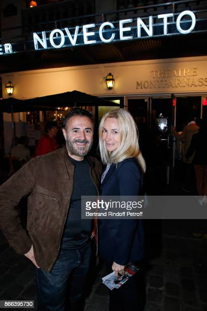 Actor Jose Garcia and his wife director Isabelle Doval attend the 'Novecento' 200th Performance at Theatre Montparnasse on October 25 2017 in Paris...