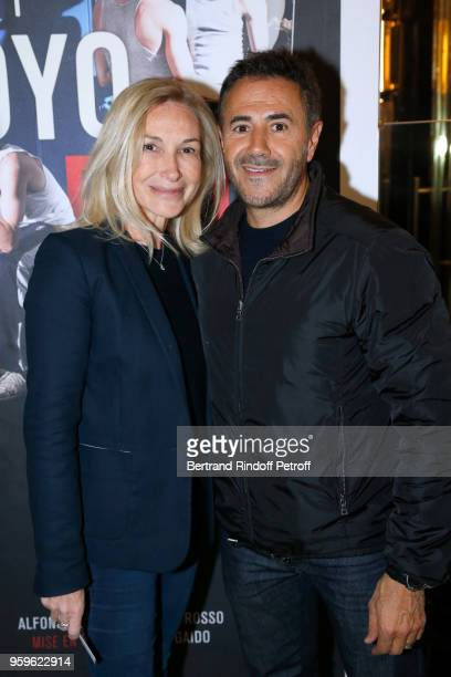 Actor Jose Garcia and his wife director Isabelle Doval attend the 'Un Poyo Rojo' Theater Play celebrates its 10th Anniversary at Theatre Antoine on...