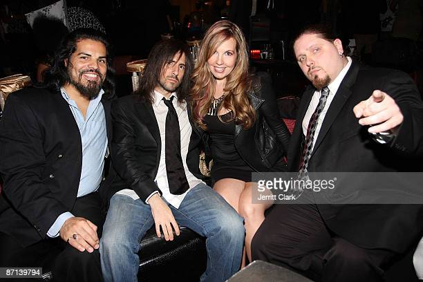 Actor Jose Hernandez Jr Guns N' Roses guitarist Ron 'Bumblefoot' Thal and wife Jen Thal and wrestler Brimstone attend Chrisette Michele's 'Epiphany'...
