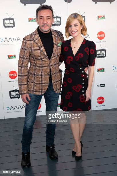 Actor Jose Luis Garcia Perez and actress Alexandra Jimenez attend the 'Hospital Valle Norte' photocall at Cineteca cinema on December 11 2018 in...
