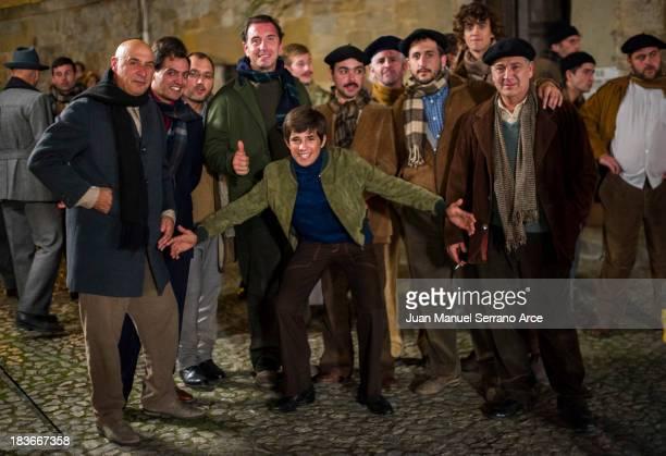 Actor Jose Luis Gutierrez seen filming 'Seve' a film about golfer Severiano Seve Ballesteros on October 8 2013 in Santander Spain