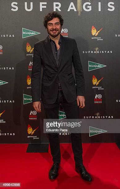 Actor Jose Manuel Seda attends 'Sufragistas' premiere at Callao cinema on December 2 2015 in Madrid Spain