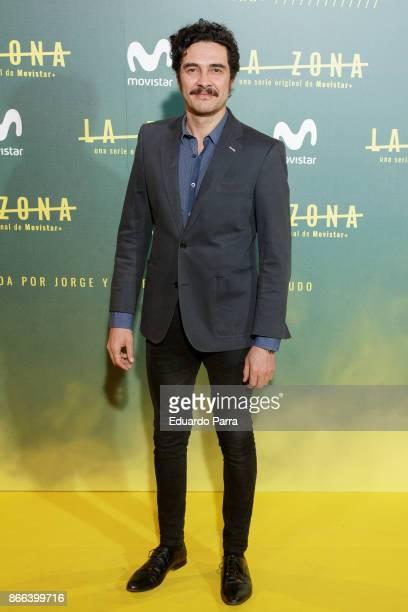 Actor Jose Manuel Seda attends the 'La Zona' premiere at Capitol cinema on October 25 2017 in Madrid Spain