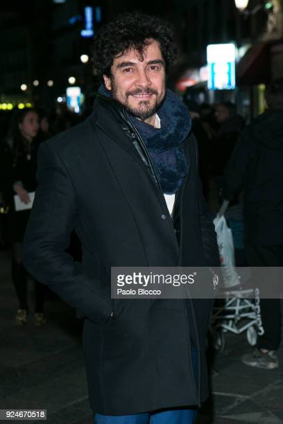Actor Jose Manuel Seda is seen arriving to the 'Fotogramas de Plata' awards at the Joy Eslava Club on February 26 2018 in Madrid Spain