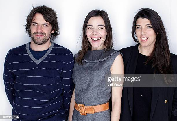 Actor Jose Maria de Tavira director Zeina Durra and actress Elodie Bouchez pose for a portrait during the 2010 Sundance Film Festival held at the...