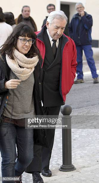 Actor Jose Sacristan is seen during the set filming of 'Galerias Velvet' on December 14 2015 in Madrid Spain