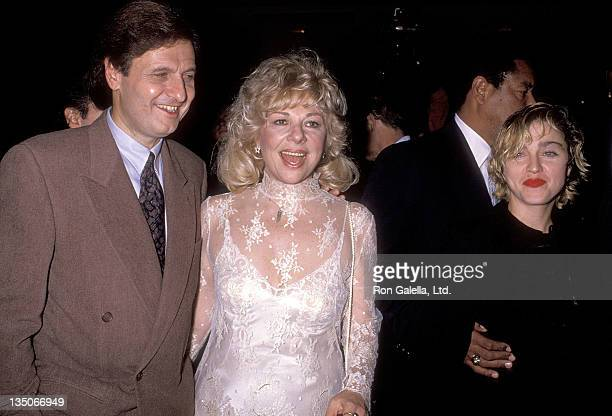 Actor Joseph Bologna actress Renee Taylor and singer Madonna attend the It Had to Be You Beverly Hills Premiere on October 24 1989 at the Samuel...
