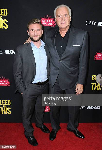 Actor Joseph Cortese and son Jack Cortese arrive at the premiere of Open Road Films 'Bleed For this' at Samuel Goldwyn Theater on November 2 2016 in...