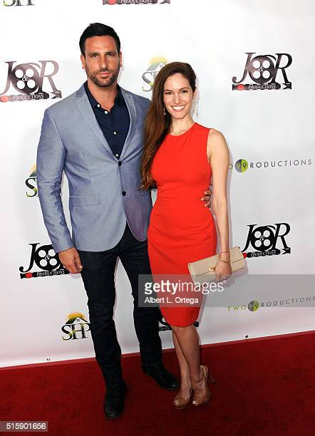 Actor Joseph Ferrante and actress Tal Berkovich arrive for the Premiere Of JR Productions' Halloweed held at TCL Chinese 6 Theatres on March 15 2016...