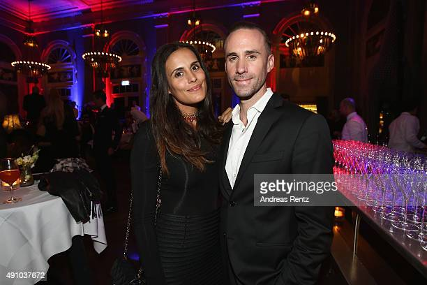 Actor Joseph Fiennes and Maria Dolores Dieguez attend the Tommy Hilfiger VIP Dinner during the Zurich Film Festival on October 2 2015 in Zurich...