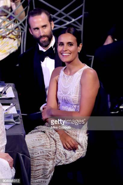 Actor Joseph Fiennes and Maria Dolores Dieguez during the 24th Annual Screen Actors Guild Awards at The Shrine Auditorium on January 21 2018 in Los...