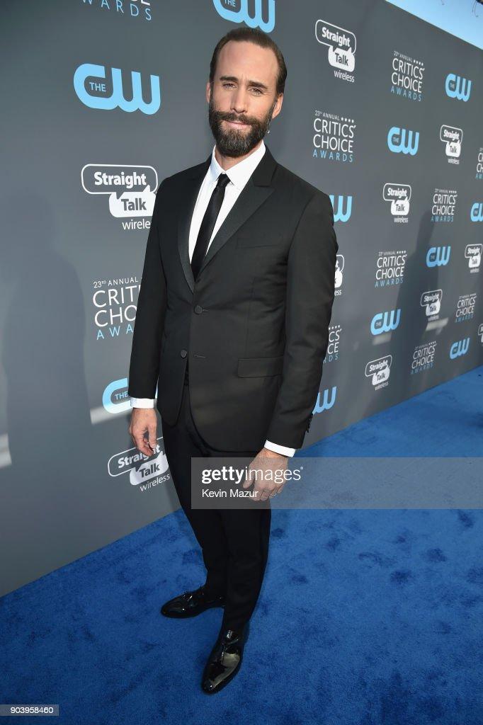Actor Joseph Fiennes attends The 23rd Annual Critics' Choice Awards at Barker Hangar on January 11, 2018 in Santa Monica, California.