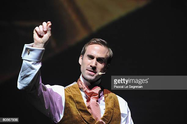 Actor Joseph Fiennes performs 'Minutes of Separation' during 'The Crossing' gala event hosted by IWC Schaffhausen held at the Geneva Palaexpo on...