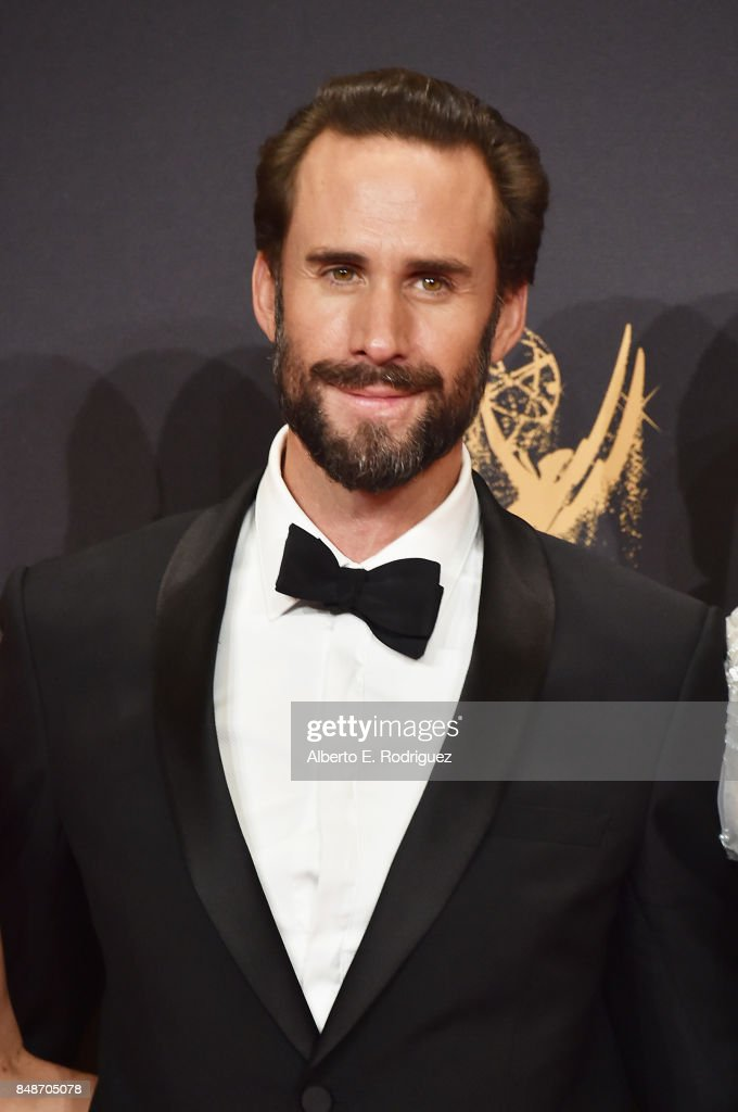 Actor Joseph Fiennes, winner of the award for Outstanding Drama Series for 'The Handmaid's Tale,' poses in the press room during the 69th Annual Primetime Emmy Awards at Microsoft Theater on September 17, 2017 in Los Angeles, California.