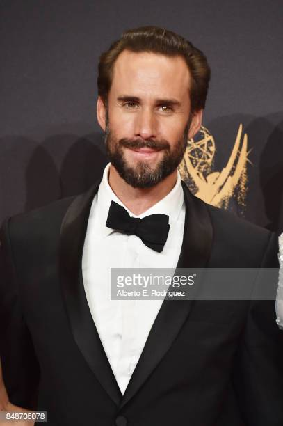 Actor Joseph Fiennes winner of the award for Outstanding Drama Series for 'The Handmaid's Tale' poses in the press room during the 69th Annual...