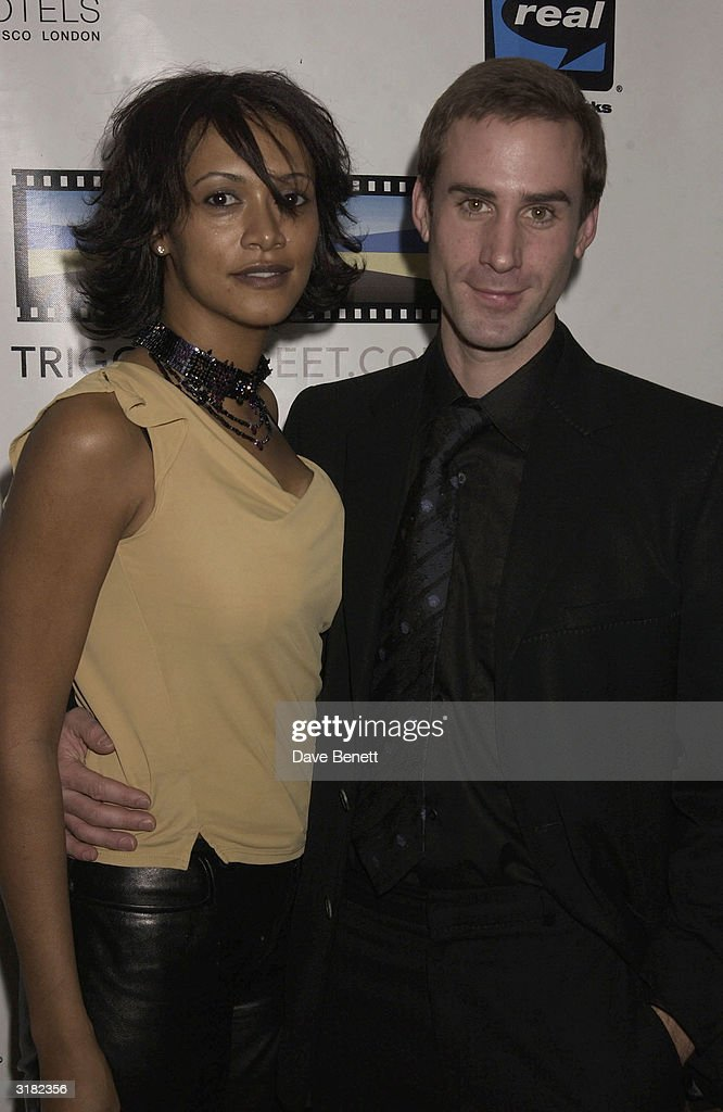 Actor Joseph Fiennes with guest at the launch party for actor Kevin Spacey's 'Triggerstreet.com' project on 26th November 2002 at Ian Schrager's 'Sanderson Hotel' in London.