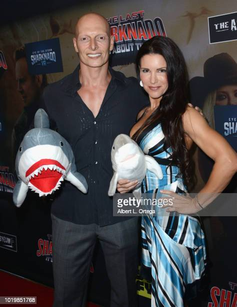 Actor Joseph Gatt and actress Mercy Malick arrive for the Premiere Of The Asylum And Syfy's 'The Last Sharknado It's About Time' held at Cinemark...