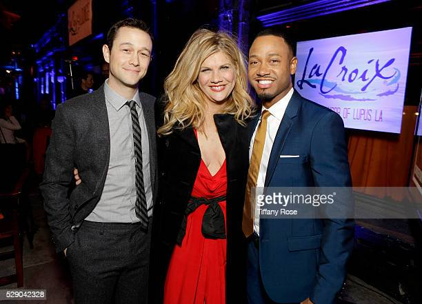 Actor Joseph GordonLevitt actress Kristen Johnston and and TV personality Terrence Jenkins attend Lupus LA's Orange Ball A Night Of Superheroes at...