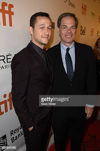 Actor Joseph GordonLevitt and executive producer Tom Ortenberg attends the 'Snowden' premiere during the 2016 Toronto International Film Festival at...