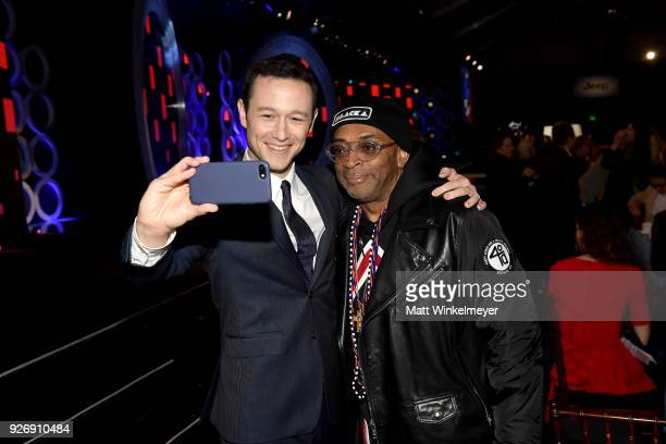 Actor Joseph GordonLevitt and Spike Lee during the 2018 Film Independent Spirit Awards on March 3 2018 in Santa Monica California