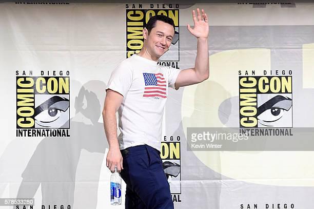 Actor Joseph GordonLevitt attends 'Snowden' panel during ComicCon International 2016 at San Diego Convention Center on July 21 2016 in San Diego...