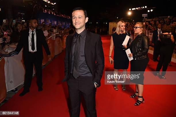 Actor Joseph GordonLevitt attends the Snowden premiere during the 2016 Toronto International Film Festival at Roy Thomson Hall on September 9 2016 in...
