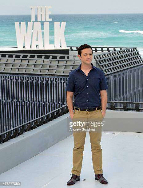 """Actor Joseph Gordon-Levitt attends the """"The Walk"""" photo call during Summer Of Sony Pictures Entertainment 2015 at The Ritz-Carlton Cancun on June 15,..."""
