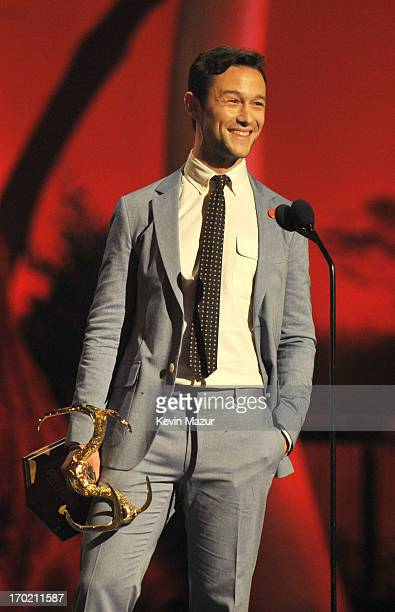 Actor Joseph GordonLevitt speaks onstage during the 2013 Spike TV Guys Choice at Sony Pictures Studios on June 8 2013 in Culver City California